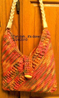 Ravelry: merripurdy's Masa Bag Crochet Handbags, Crochet Purses, Love Crochet, Knit Crochet, Yarn Bag, Knitted Bags, Handmade Bags, Purses And Handbags, Bag Making