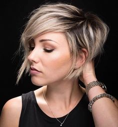 Image result for long pixie cut with fringe on the nape of neck