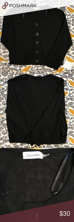NWT Calvin Klein Black Sparkly Sweater Size L This sweater has never been worn and is NWT. Calvin Klein Sweaters Cardigans
