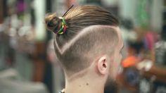 Cool Man Bun Haircut, Man Bun Hairstyles, Boys Long Hairstyles, Haircuts For Men, Hair Twist Styles, Hair And Beard Styles, Curly Hair Styles, Undercut Long Hair, Curly Hair Men
