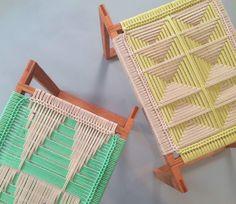 handmade macrame stools - Google Search