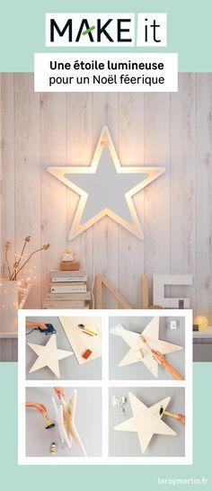 Dormir à la belle étoile, c'est possible grâce à ce point lumineux DIY ! Créant une ambiance tamisée, l'étoile de Noël se transforme en lampe apporte magie et poésie à la déco de la pièce. Après les Fêtes, le luminaire pourra s'installer dans une chambre d'enfants, ou même dans le salon ! Découvrez le tutoriel complet.