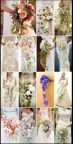 Beautiful cascading #Bridal #wedding Bouquet
