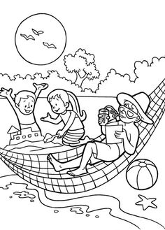 Download Beach Coloring Pages Letmehit