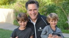 I love this one of Mitt with Parker and Miles.