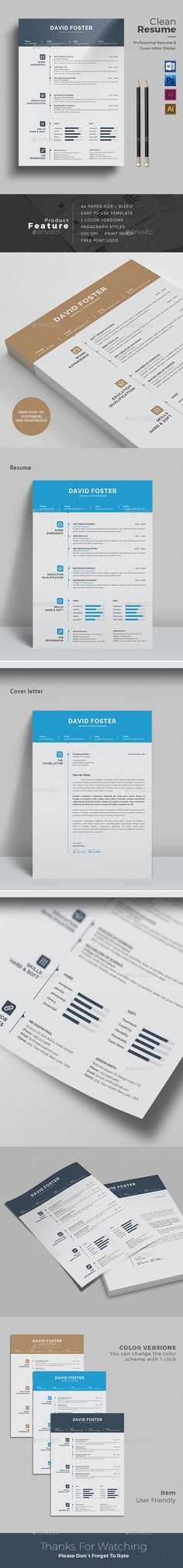 Resume Template With MS Word Resume, Photoshop and Resume templates - portfolio word template