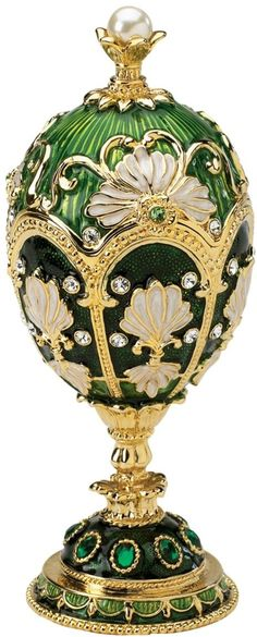 Shop the latest collection of Design Toscano The Petroika Larissa Faberge Style Enameled Egg Collectible, 6 Inch, Green from the most popular stores - all in one place. Fabrege Eggs, Art Sculpture, Imperial Russia, Egg Art, Russian Art, Egg Decorating, Oeuvre D'art, Arabesque, Easter Eggs
