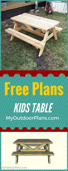 7 Best Kid Ideas Images Kids Picnic Table Plans Gardens Woodworking