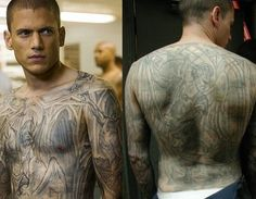 Wentworth Miller as Michael Scofield in Prison Break I miss him as well as his  genius tatoos. People | tattoos picture prison break tattoo