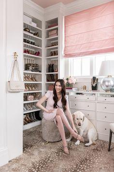 Step Inside My Closet... - Rach Parcell Dressing Room Closet, Dressing Room Design, Dressing Rooms, Walk In Wardrobe, Walk In Closet, Glam Closet, Pink Closet, Wardrobe Room, Luxury Closet