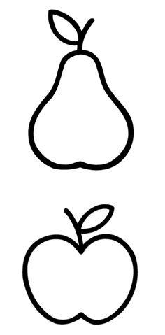 Vorlage Apfel, Birne
