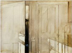 No Brash Festivity — Andrew Wyeth, Open and Closed, 1964