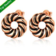 Find More Stud Earrings Information about Wholesale Fashion Black/White Enamel Round Vintage Earrings,Rose Gold Plated/Platinum Plated brincos de prata,Party Jewelry R338,High Quality jewelry mobile,China jewelry crimp Suppliers, Cheap jewelry message from ULOVE Fashion Jewelry Official Store on Aliexpress.com