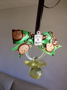 Baby Shower Monkey Theme Pacifier Necklace by MarcenariPartyDecor, $18.99