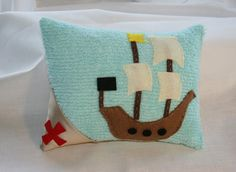 pirate pillow    too cute!  If only I could sew......