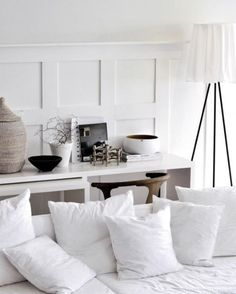 Laid Back White Interior Scheme