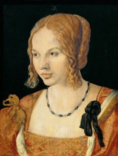 """Being Bess: """"16th century Irish Rebel: Eleanor FitzGerald, Countess of Desmond"""" http://beingbess.blogspot.com/2015/03/16th-century-irish-rebel-eleanor.html  IMAGE: This is NOT a portrait of Eleanor FitzGerald, Countess of Desmond, but with a lack of an authentic portrait of her, I had to supply a substitute. This is how I had been picturing her when I had been researching her. This portrait is Albrecht Durer's Portrait of a Young Venetian Woman, 1505."""
