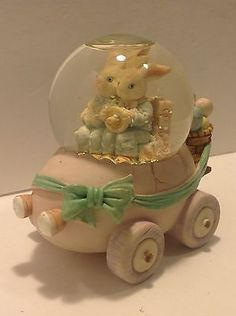 Easter Bunny Rabbit Bunnies Rabbits And Family Car Easter Snow Globe Snowglobe