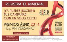 Como en fechas anteriores, somos orgullosos patrocinadores de los premios ASPID 2014, que este año celebran su 10° aniversario.  Visita y conoce las bases: http://registroaspid.com/
