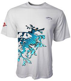 Leaf Dragon Tennis Tee Short Sleeves Colors: Light Aqua, Light Grey  Sizes: S - 2XL