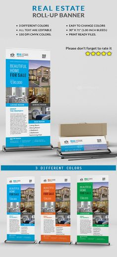 Rollup Banner, Outdoor Banners, Real Estate Marketing, Design Bundles, Color Change, Beautiful Homes, House Of Beauty