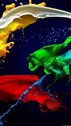 Splashes of Paint Blue Wallpaper