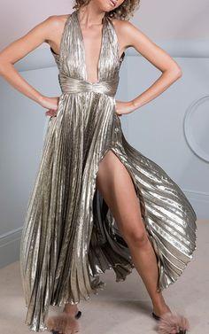 The Adina Halter Neck Midi Dress by MARIA LUCIA HOHAN for Preorder on Moda Operandi