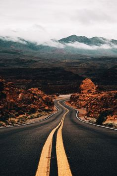 Take me where the road goes - - - - road nature fall drive car roadtrip trip travel landscape scenery photo photography sky mountains rocks rock mountain clouds Beautiful Roads, Beautiful Landscapes, Beautiful Places, Beautiful Pictures, Landscape Photography, Nature Photography, Travel Photography, Photography Poses, For Emma Forever Ago