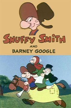 Snuffy Smith & Barney Google Old School Cartoons, Retro Cartoons, Old Cartoons, Classic Cartoons, Vintage Cartoon, Cartoon Character Tattoos, Favorite Cartoon Character, Comic Book Characters, Comic Books