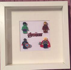 Avengers lego frame Lego Frame, Avengers, Art Pieces, Gifts, Home Decor, Presents, Decoration Home, Room Decor, Artworks