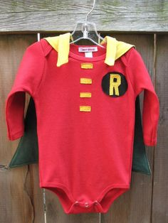 If daddy is Batman, then son has to be Robin! <3
