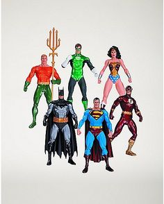 Justice League Action Figure 6 Pack - Spencer's