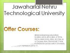 Jawaharlal Nehru Technological University Distance Education