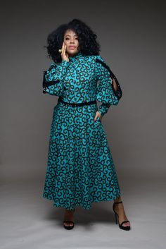 African Wear Dresses, African Attire, Beautiful Maxi Dresses, Blue Evening Dresses, Belle Dress, Colored Wedding Dresses, Mid Length Dresses, Black Girl Fashion, Fall Fashion Outfits