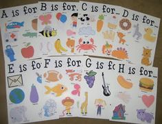 ABC letter pages - need to do this!