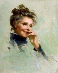 Katharine Hepburn - Oil on Canvas - http://www.rekomande.com/katharine-hepburn-oil-on-canvas/