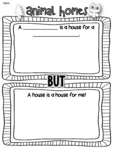 Animal Homes Class Book {A House is a House for Me} {Free!}