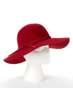 Cranberry Madeline Wool Sunhat Asian Eyes e7f7a0ba495a