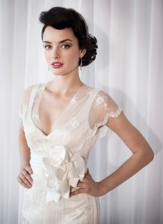 Short Sleeve Vintage Lace Wedding Dresses 2012 Buy