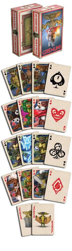 Gremlins Playing Cards by Albino Dragon! Don't get them wet! :) On www.albinodragon.com