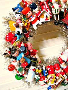Toyland Vintage Christmas Wreath with LOTS of Vintage by Bethsbagz