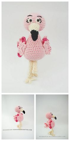 Amigurumi Flamingo Free Pattern - Amigurumi Daily Crochet Flamingo, Crochet Elephant Pattern, Amigurumi Patterns, Crochet Patterns, Crochet Ideas, Free Crochet, Crochet Hats, Head And Neck, Handicraft