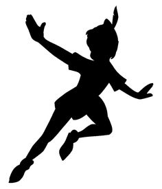 peter pan silhouette | Peter Pan and Tinkerbell Baby Shower
