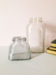 OLD GLASS BOTTLES Mercury glass apothecary by AnnmarieFamilyTree