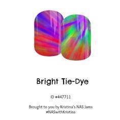 Bright Tie-Dye Jamberry Nail Art Studio Nail Wraps - exclusively designed fun rainbow nailart!
