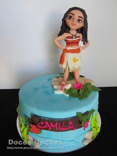 Doces Opções: Bolo de aniversário com a Vaiana Birthday Cake, Desserts, Food, Birthday Cakes, Sweets, Tailgate Desserts, Deserts, Essen, Postres