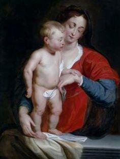Peter Paul Rubens, (1577–1640): Madonna y el Niño.