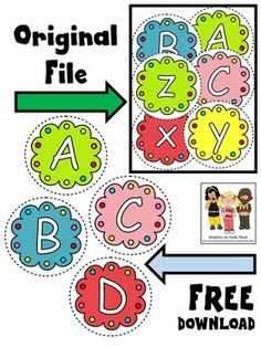 Free alphabet clip art. This freebie includes capital letters A-D.Sampled from ABC CLIP ART. The original clip art file comes with 57 color images: 26 capital letters, 26 lowercase letters and 5 colorful blank buttons.--Molly****************************************Molly Tillyer CLIP ARTTerms of UseARTClip art cannot be altered, resold, shared, or used to create new clip art.Cannot be used for graphic-centric products.