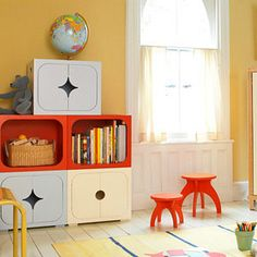 The Ultimate Cube - If you want to focus on design (and don't mind spending a little more money), check out these super-classy cubes. With their retro modern style they will jazz up any playroom or kids' room while offering abundant storage space.