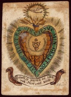 A really old late medieval  or early modern Holy card
